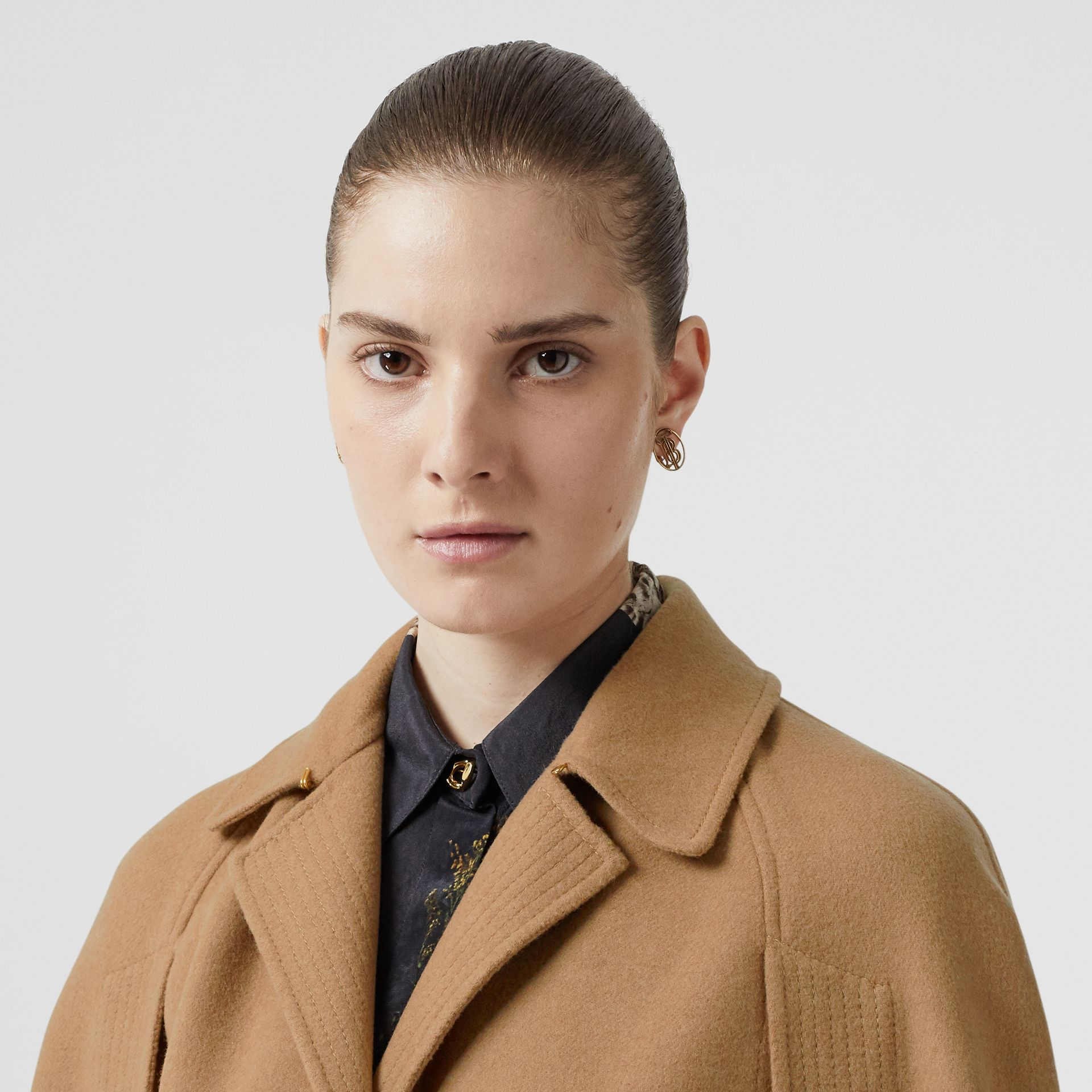 Double-faced Camel Hair Belted Cape - Women | Burberry Singapore - gallery image 1