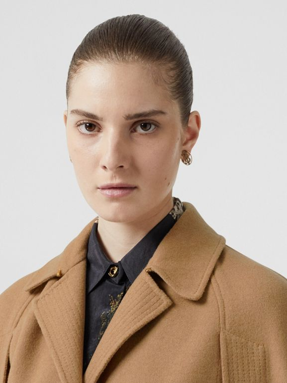 Double-faced Camel Hair Belted Cape - Women | Burberry - cell image 1