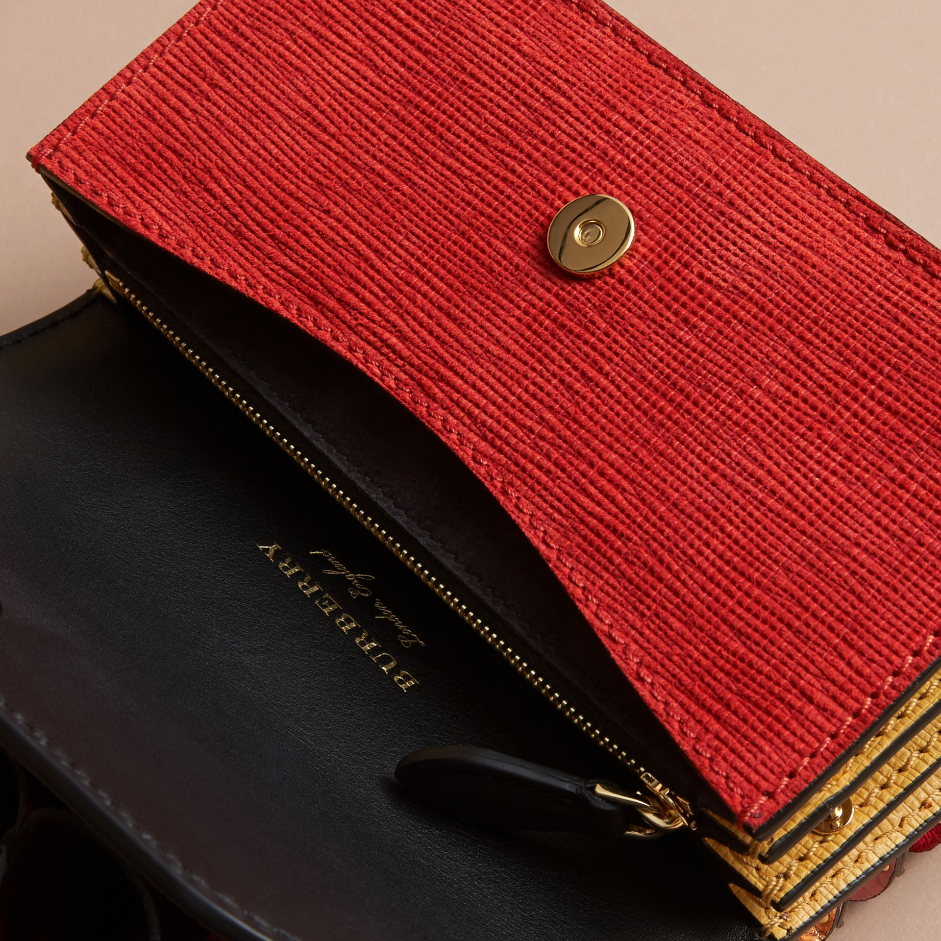 The Ruffle Buckle Bag in Snakeskin and Calf Leather - gallery image 6