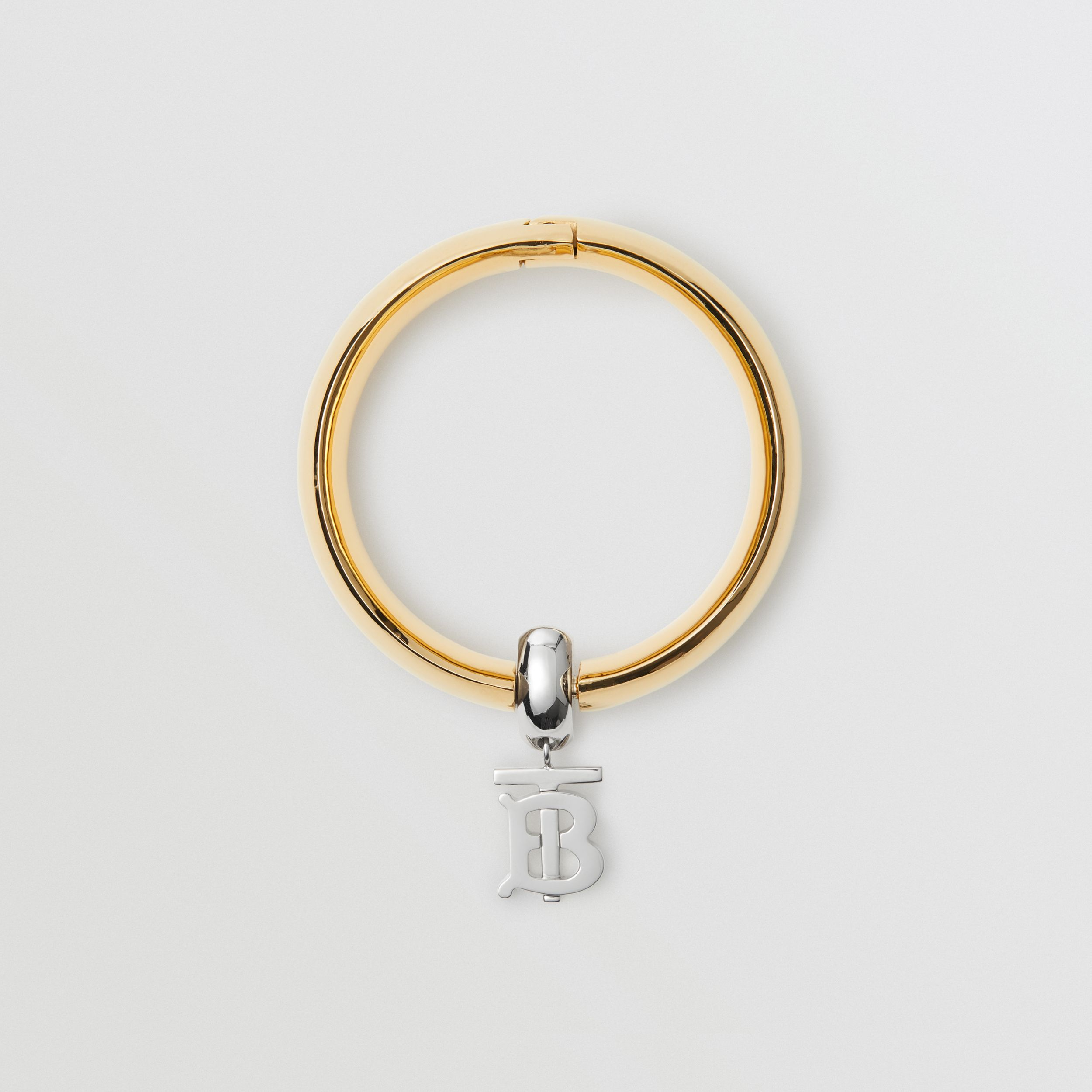 Gold-plated Monogram Motif Bangle in Light - Women | Burberry - 1