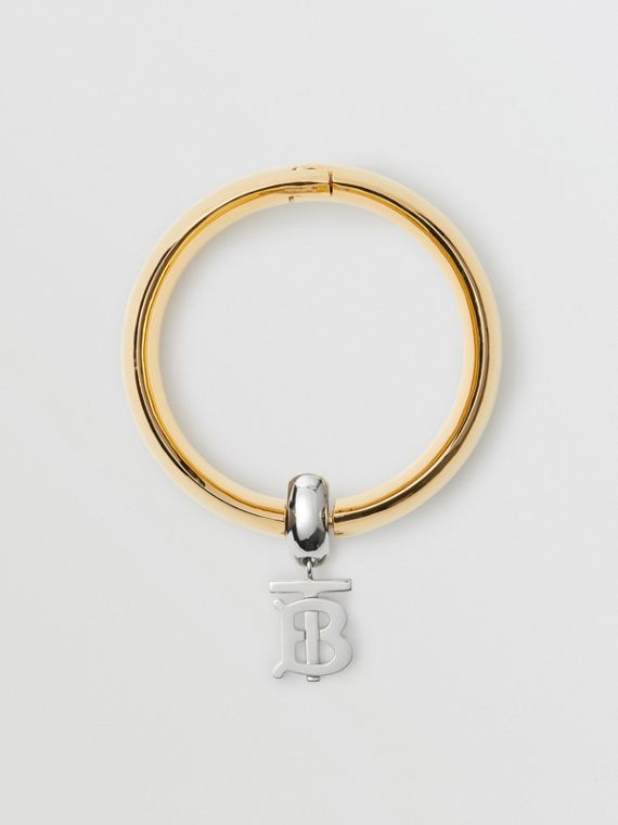 Gold-plated Monogram Motif Bangle in Light