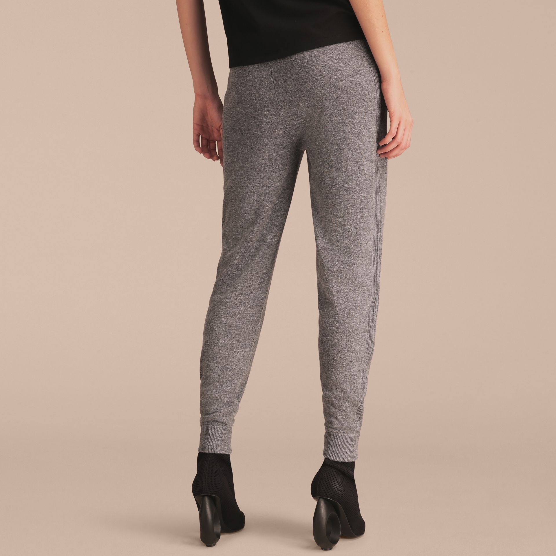 Pallas Heads Appliqué Wool Cashmere Knitted Trousers - gallery image 3