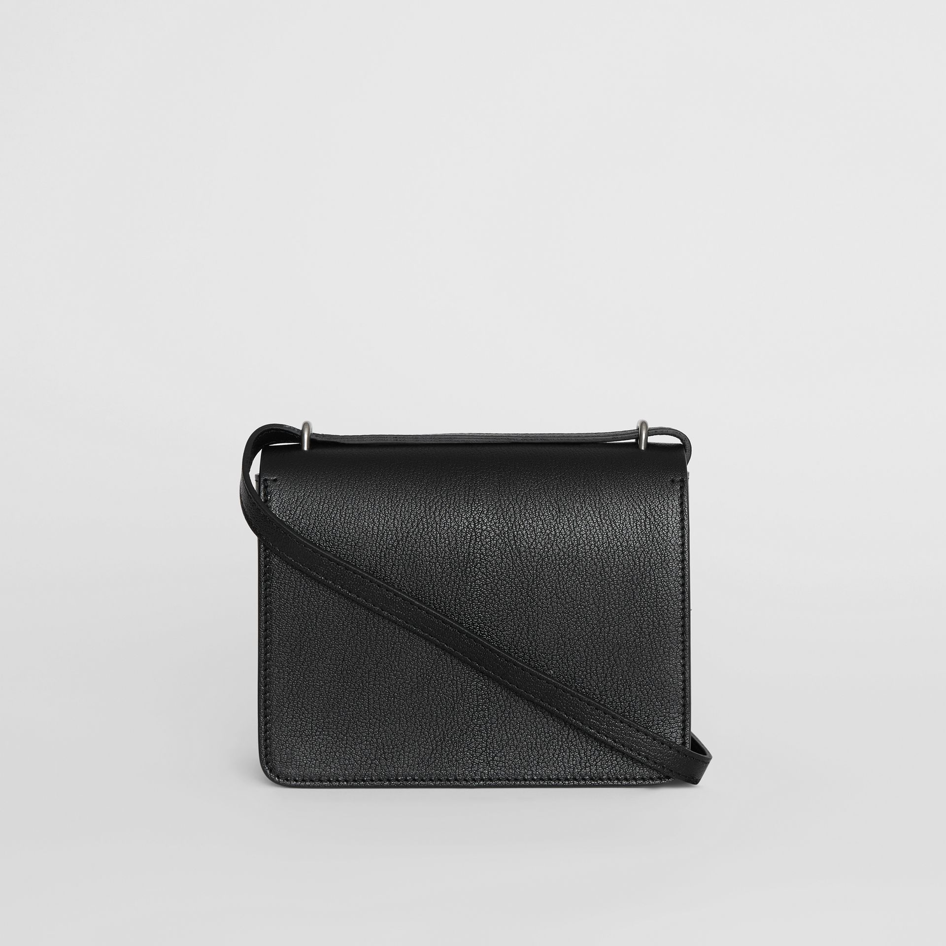The Small Leather D-ring Bag in Black - Women | Burberry - gallery image 7