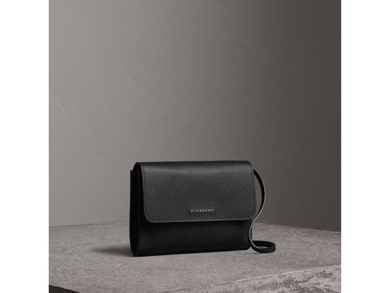 Grainy Leather Crossbody Bag in Black - Women | Burberry - cell image 4