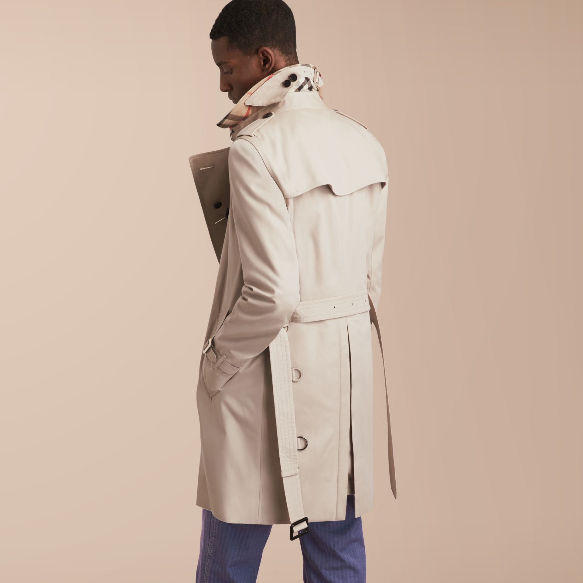 The Kensington – Long Heritage Trench Coat in Stone - gallery image 3