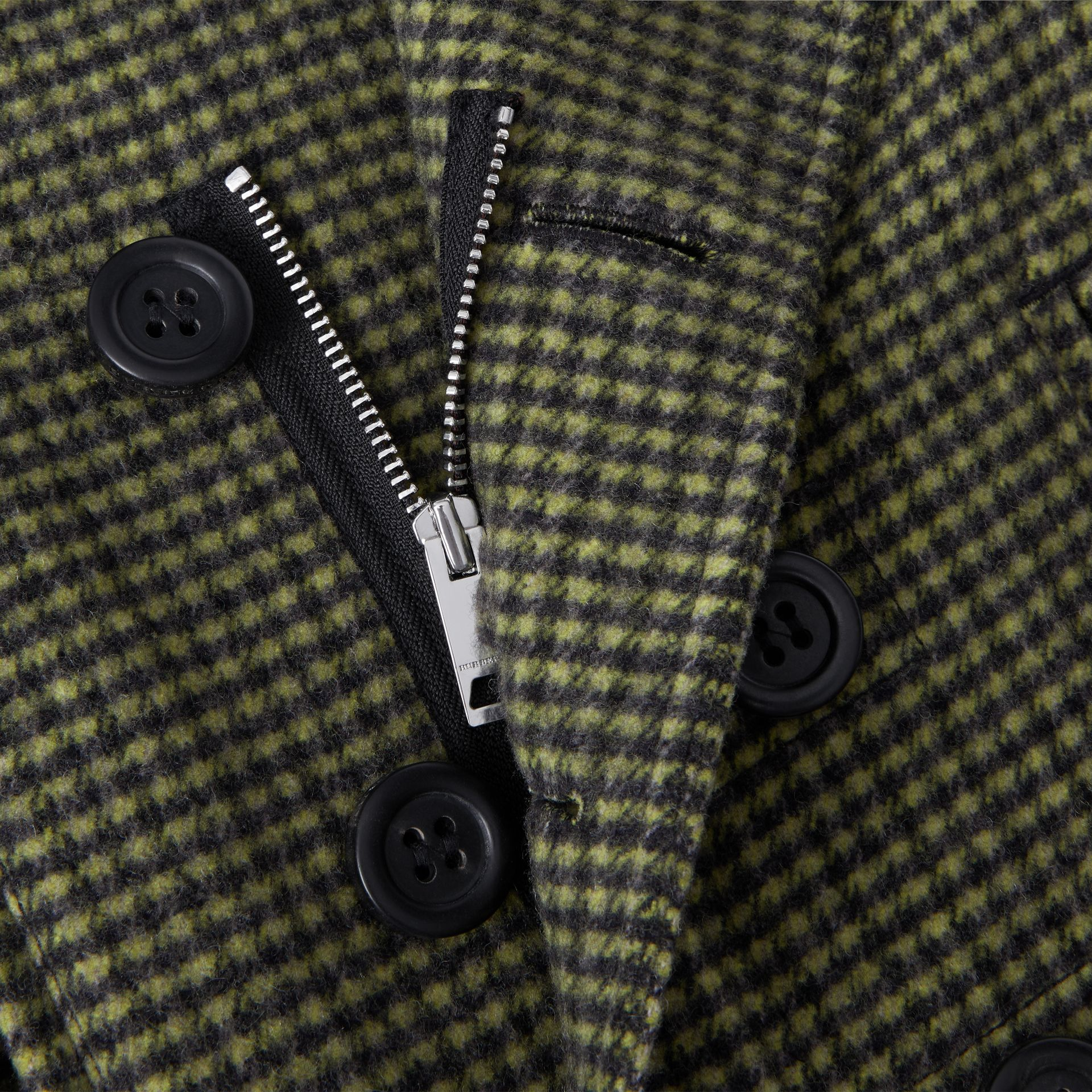 Check Wool Blend Tailored Coat in Grass Green | Burberry - gallery image 1