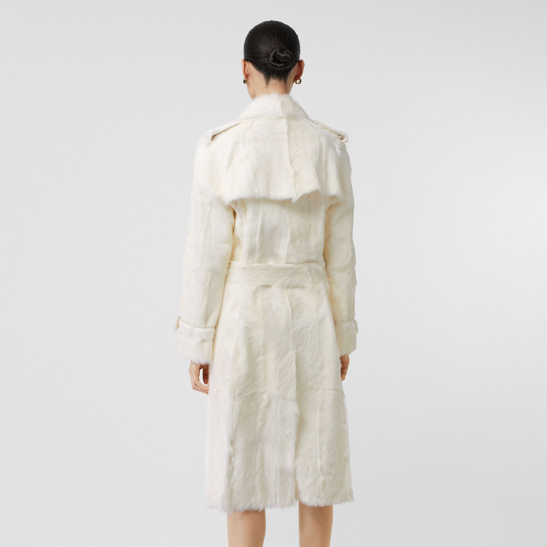 Goat Trench Coat in Ecru - Women | Burberry United Kingdom - gallery image 2