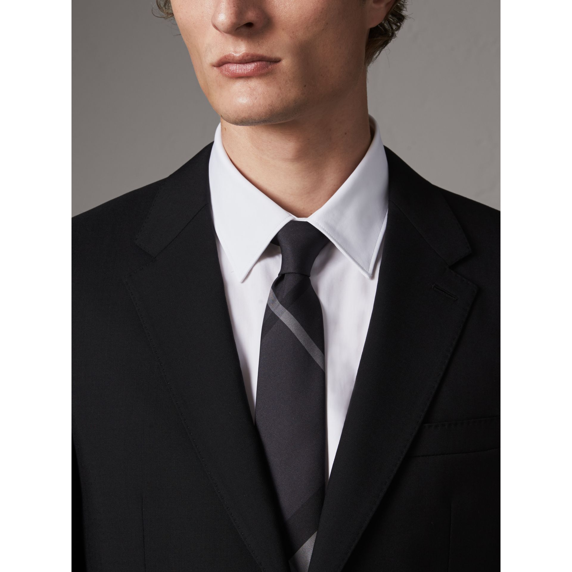 Modern Fit Wool Part-canvas Suit in Black - Men | Burberry Hong Kong - gallery image 6