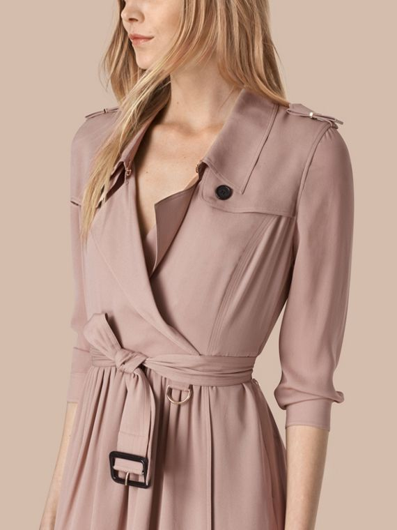 Silk Trench Dress Nude - cell image 3