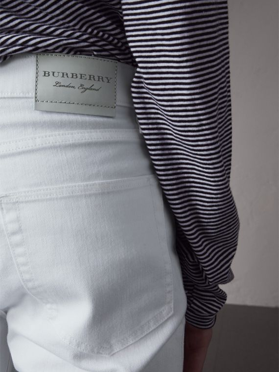 Slim Fit Stretch Japanese Denim Jeans - Men | Burberry Hong Kong - cell image 3
