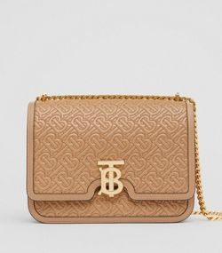 b28a043fc475 Medium Quilted Monogram Lambskin TB Bag in Honey