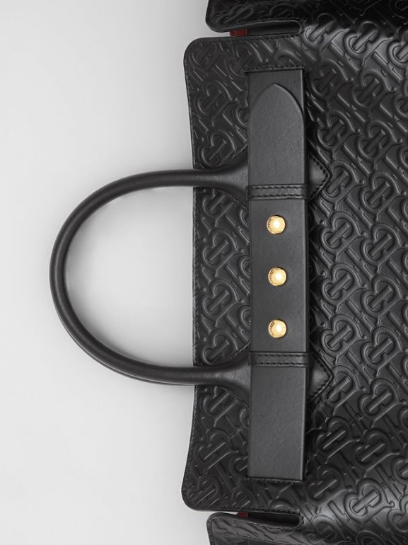 The Medium Monogram Leather Triple Stud Belt Bag in Black - Women | Burberry - cell image 1