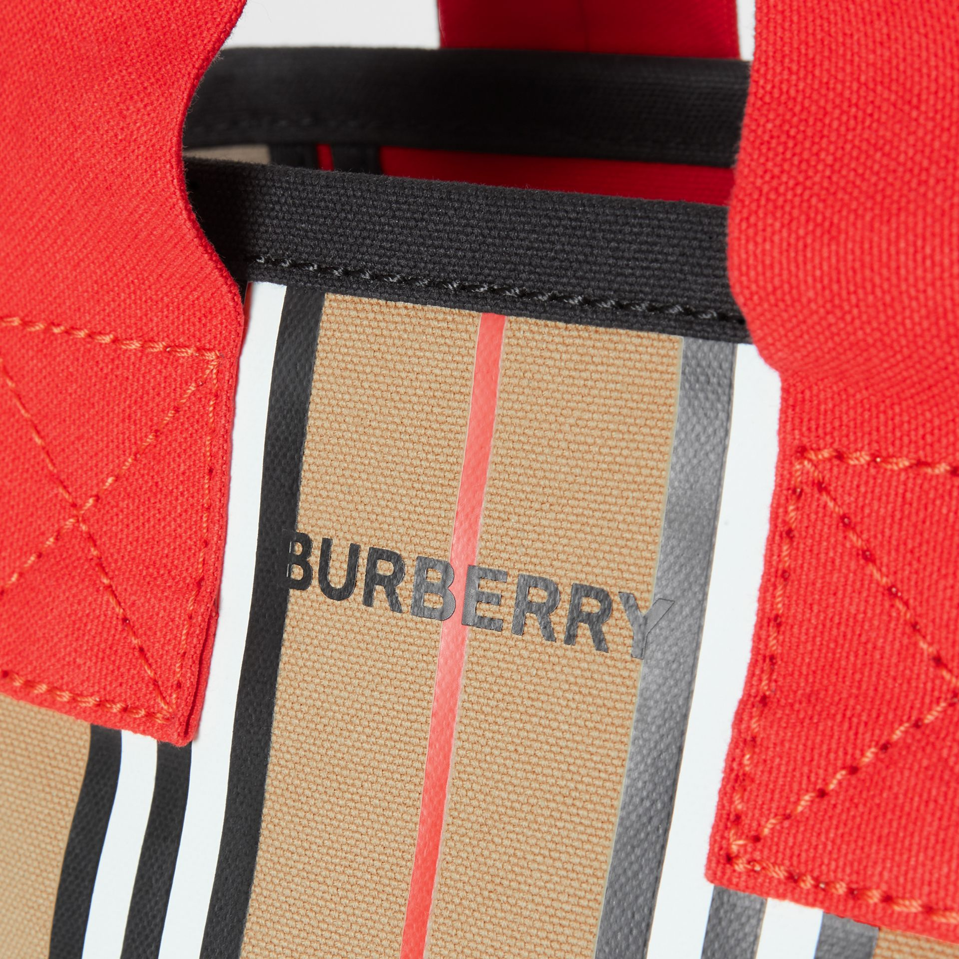 Icon Stripe Cotton Tote Bag in Honey - Children | Burberry - gallery image 1