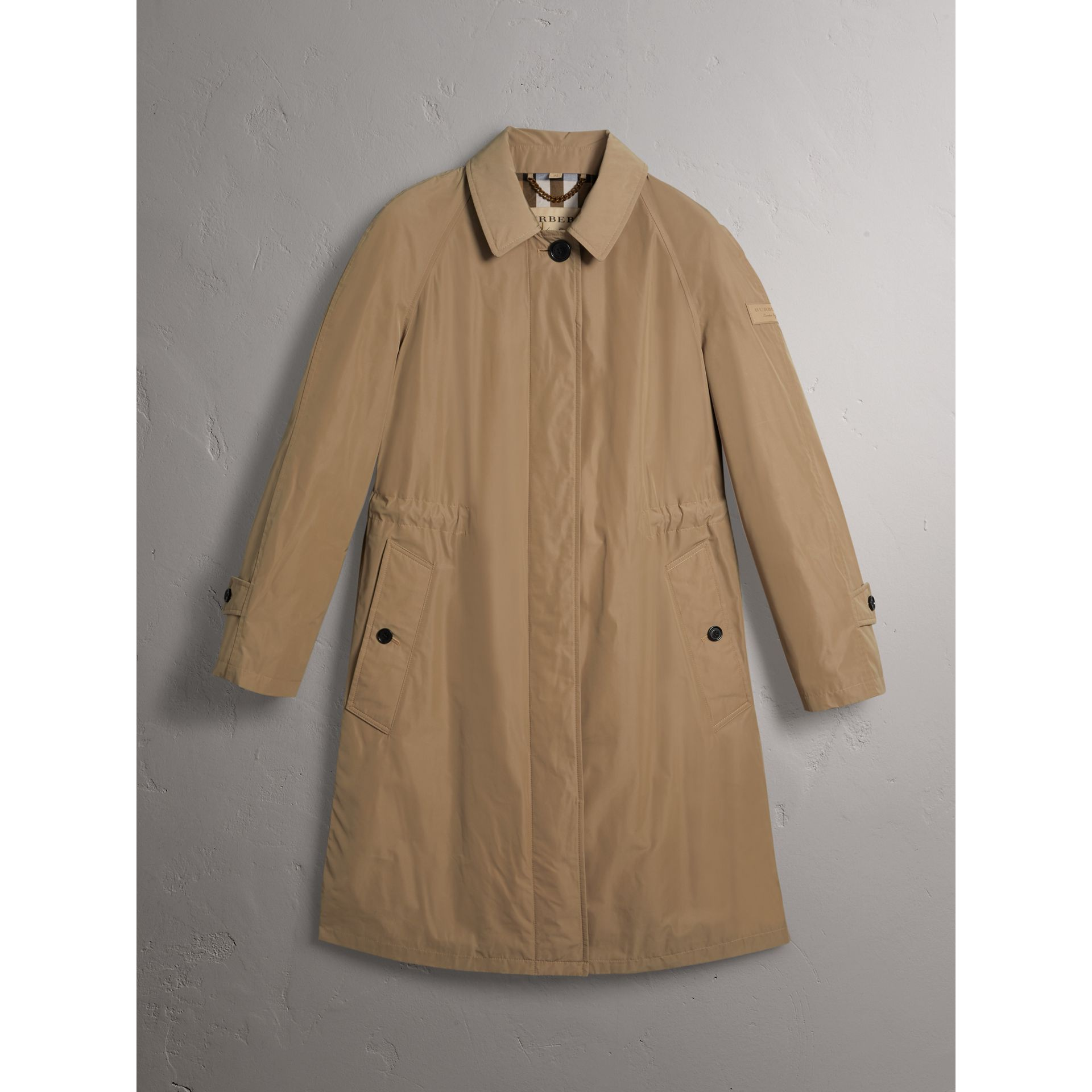 Detachable Hood Showerproof Car Coat in Sisal - Women | Burberry Singapore - gallery image 3