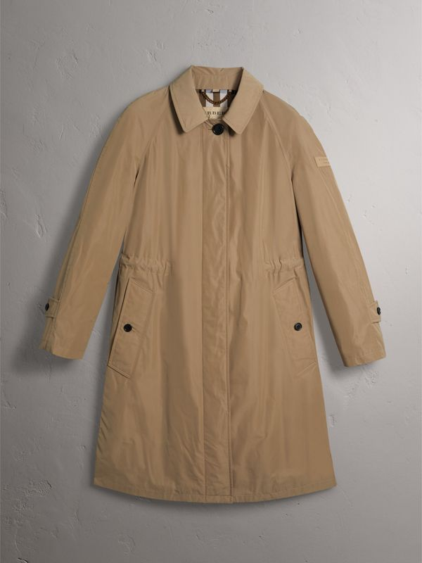 Detachable Hood Showerproof Car Coat in Sisal - Women | Burberry United Kingdom - cell image 3