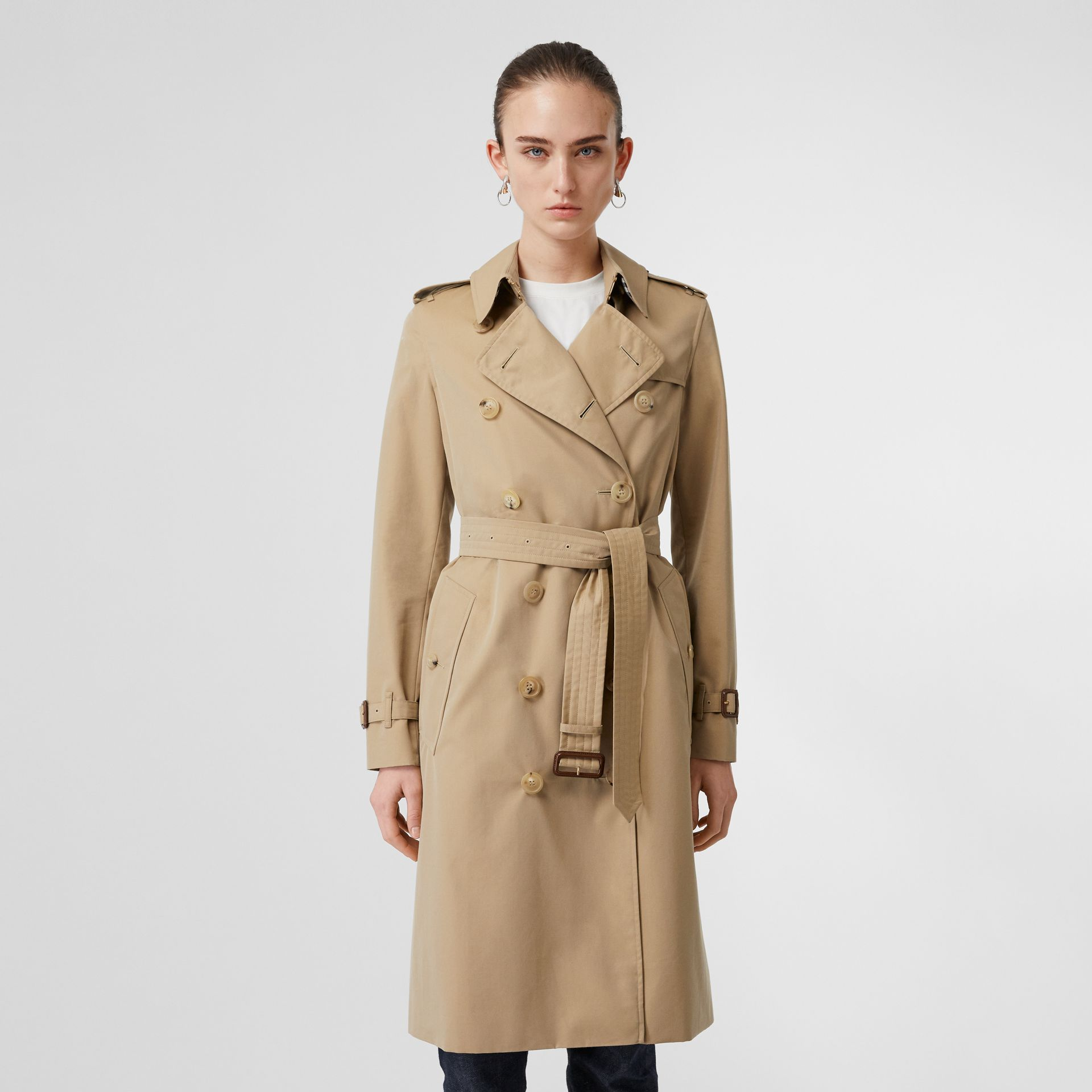The Long Kensington Heritage Trench Coat in Honey - Women | Burberry United States - gallery image 7