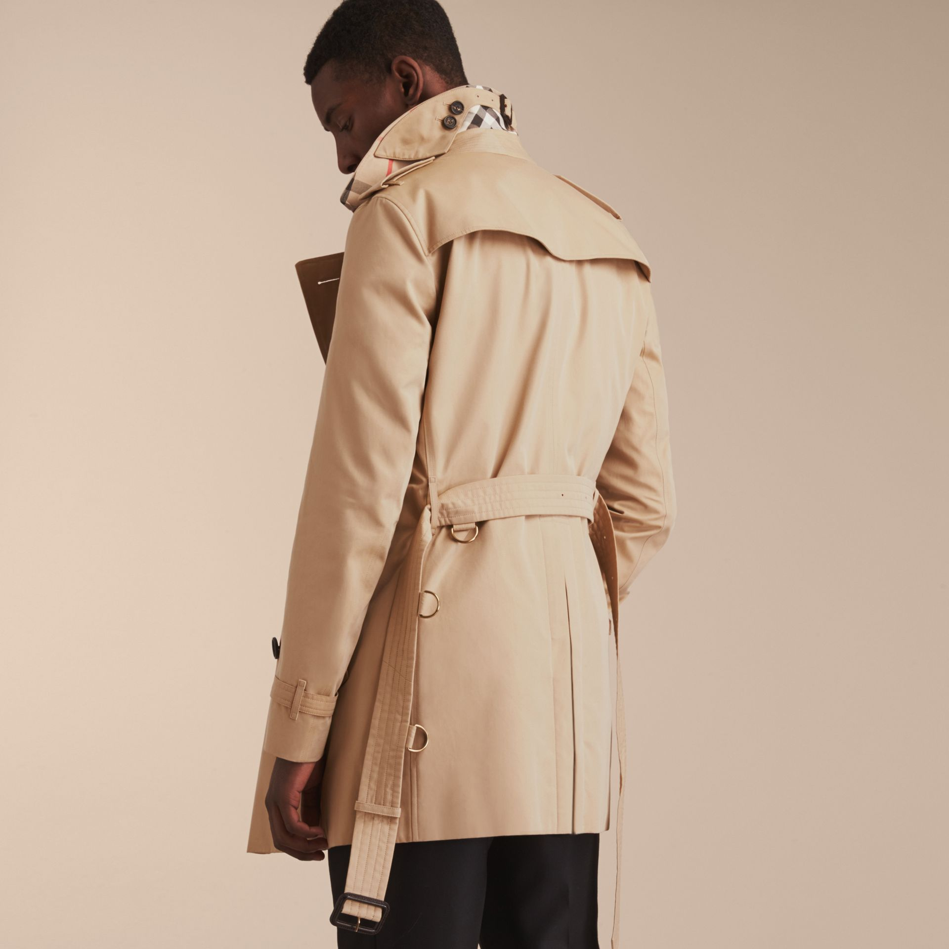 Miel Trench-coat Heritage mi-long The Chelsea Miel - photo de la galerie 4