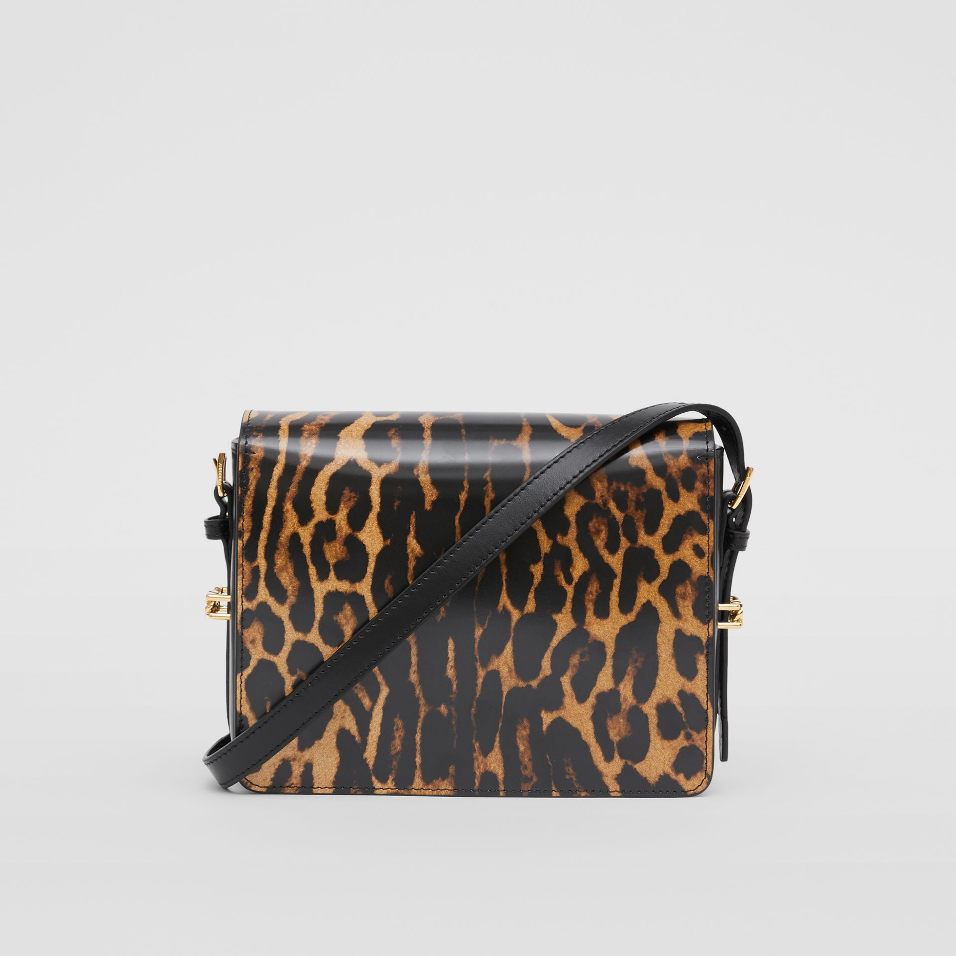 Small Leopard Print Leather Grace Bag in Dark Mustard - Women | Burberry - gallery image 7