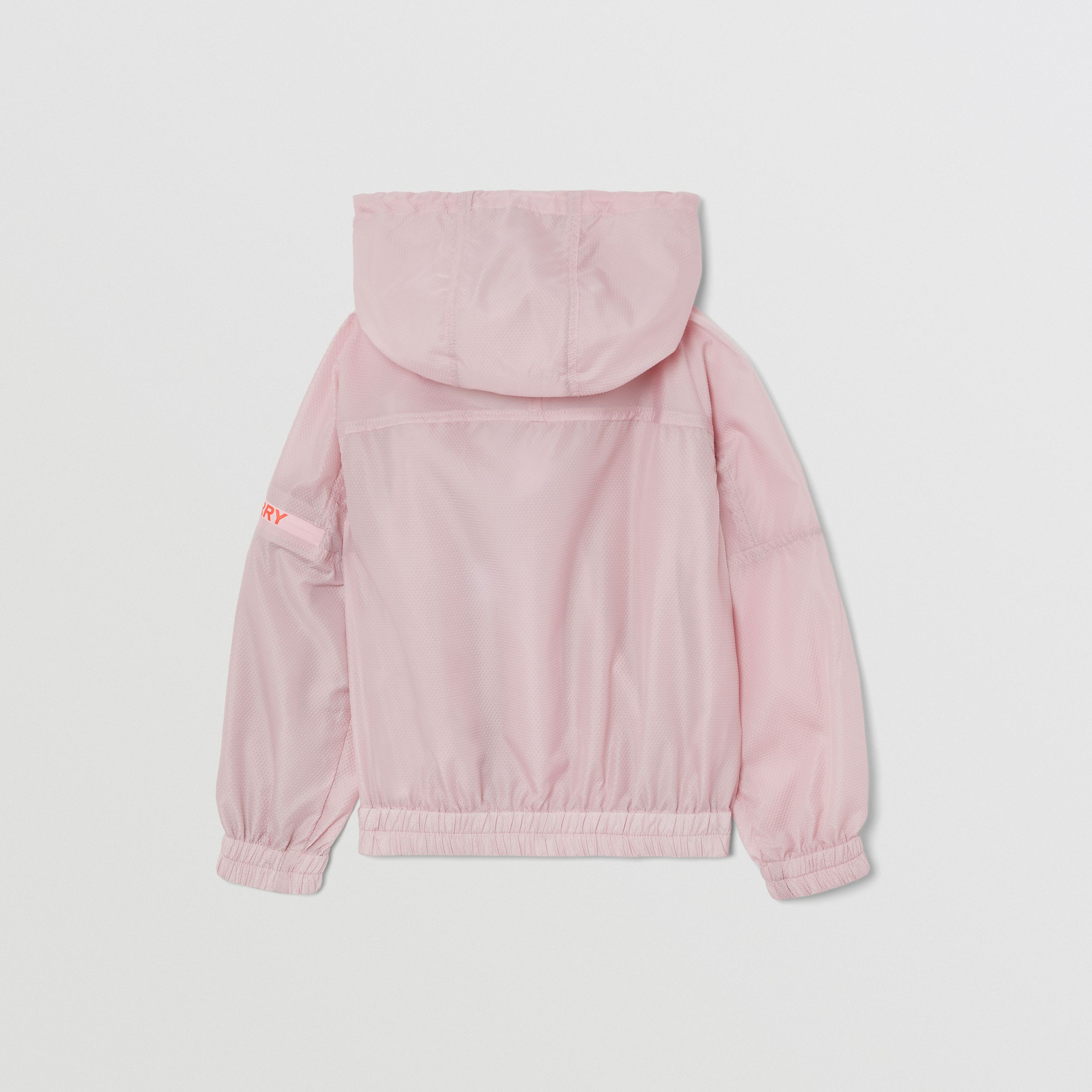 Logo Print Lightweight Hooded Jacket in Pastel Pink | Burberry - 4