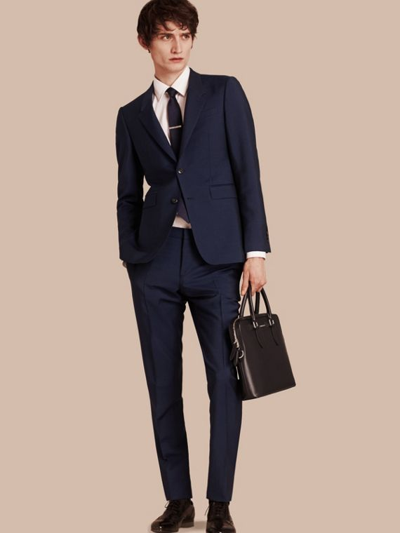 The Chelsea – Slim Fit Wool Mohair Suit Royal Navy