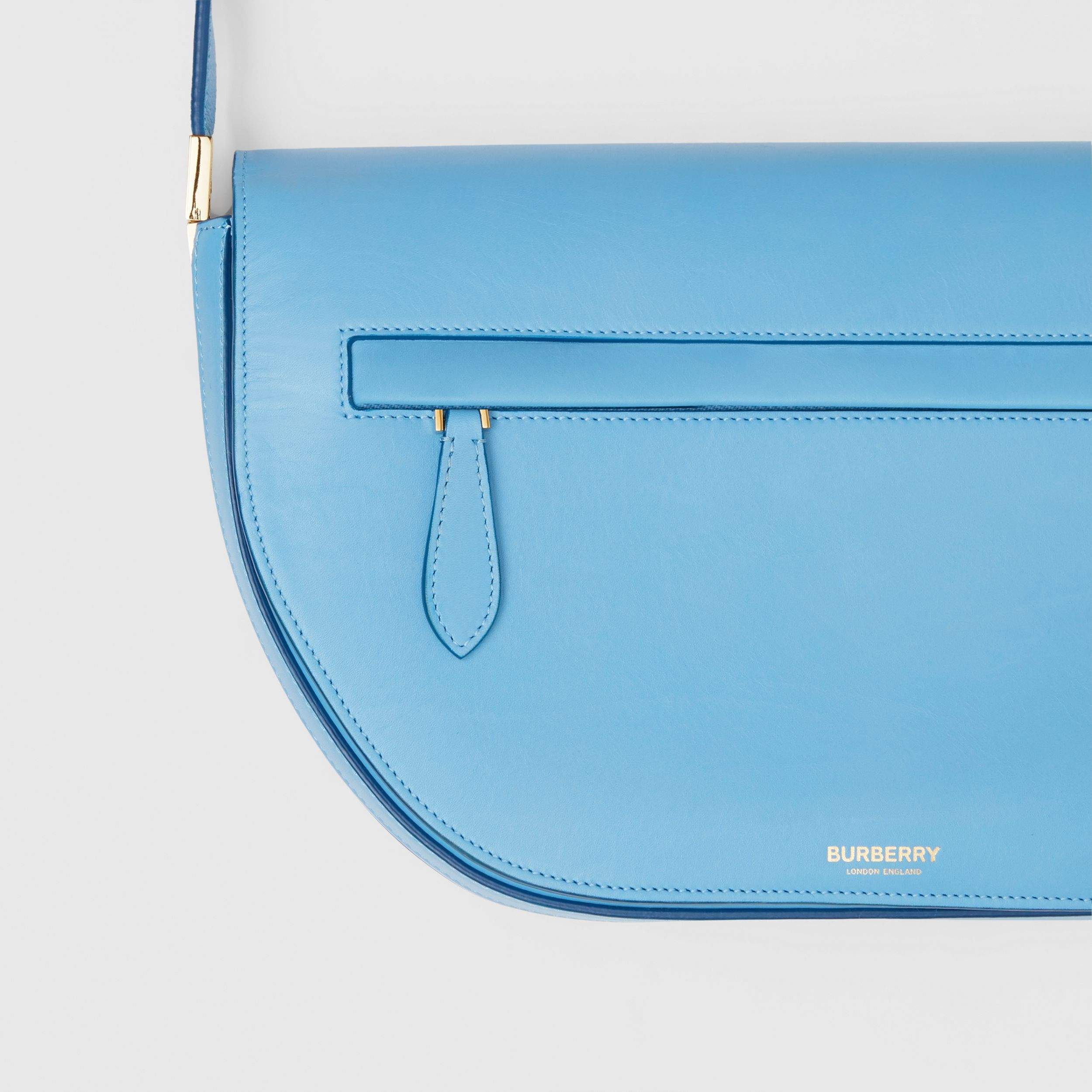 Medium Leather Olympia Bag in Blue Topaz | Burberry - 2