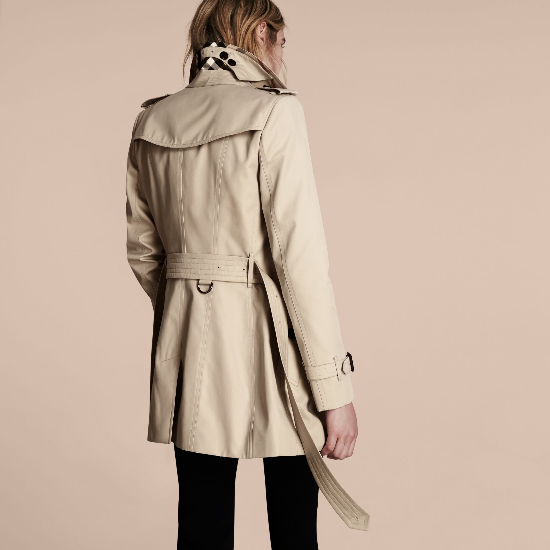 Stone The Chelsea – Short Heritage Trench Coat Stone - gallery image 3