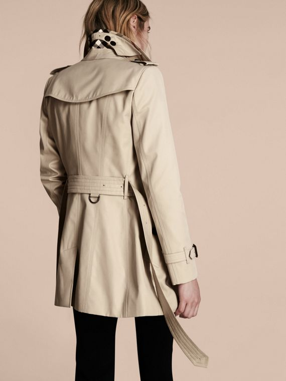 Stone The Chelsea – Short Heritage Trench Coat Stone - cell image 2