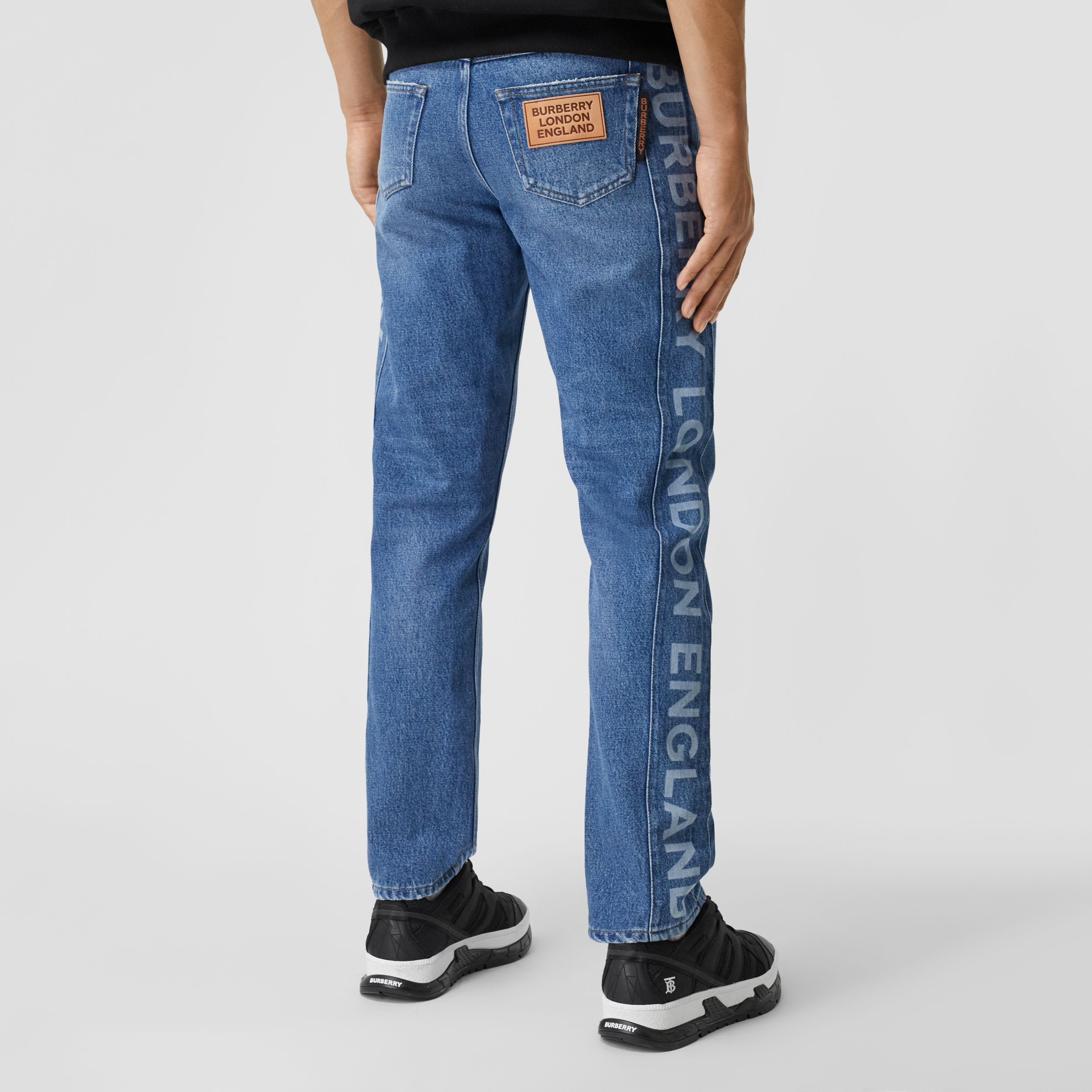 Straight Fit Logo Detail Washed Jeans - Men | Burberry United States - 3