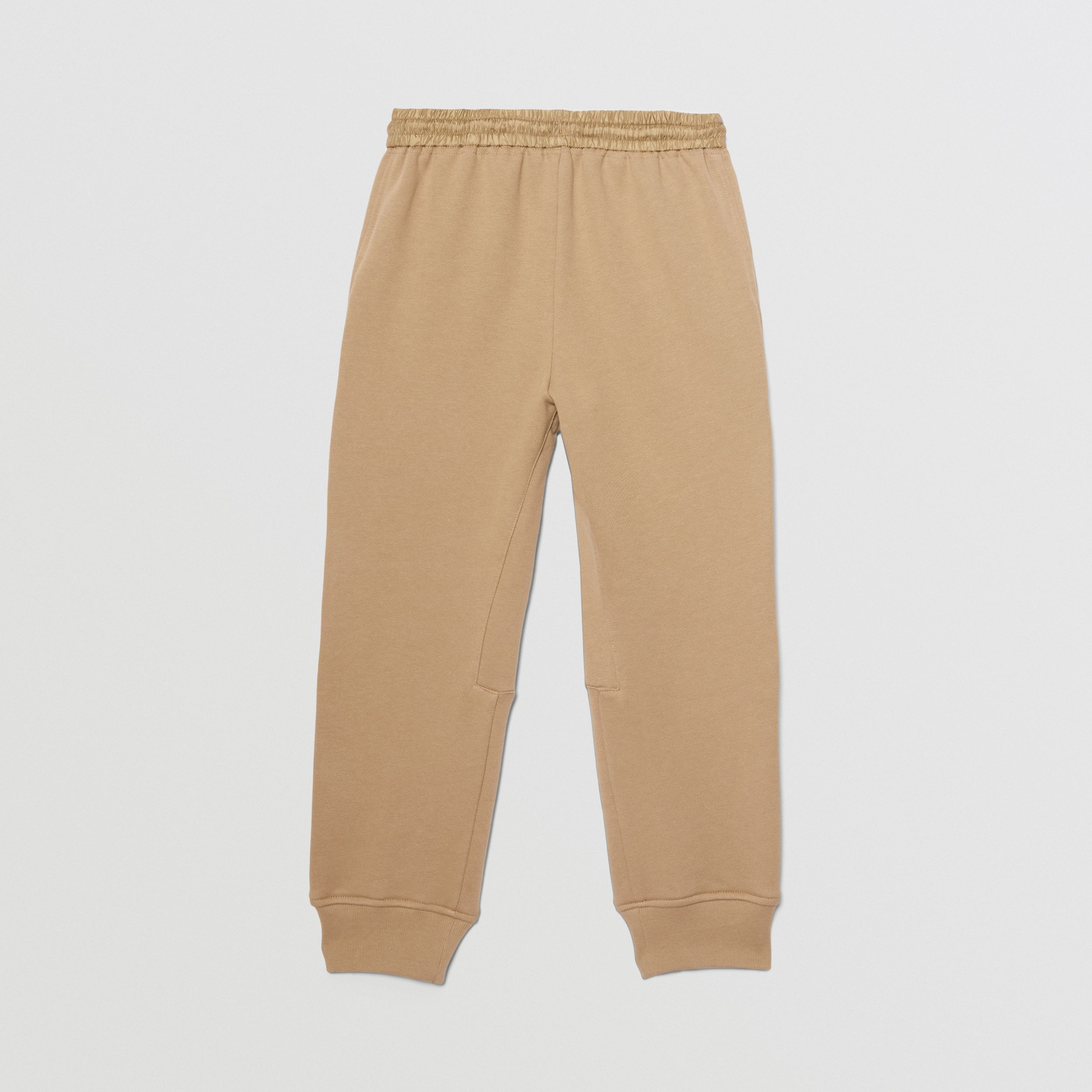 Monogram Quilted Panel Cotton Jogging Pants in Honey | Burberry - 4