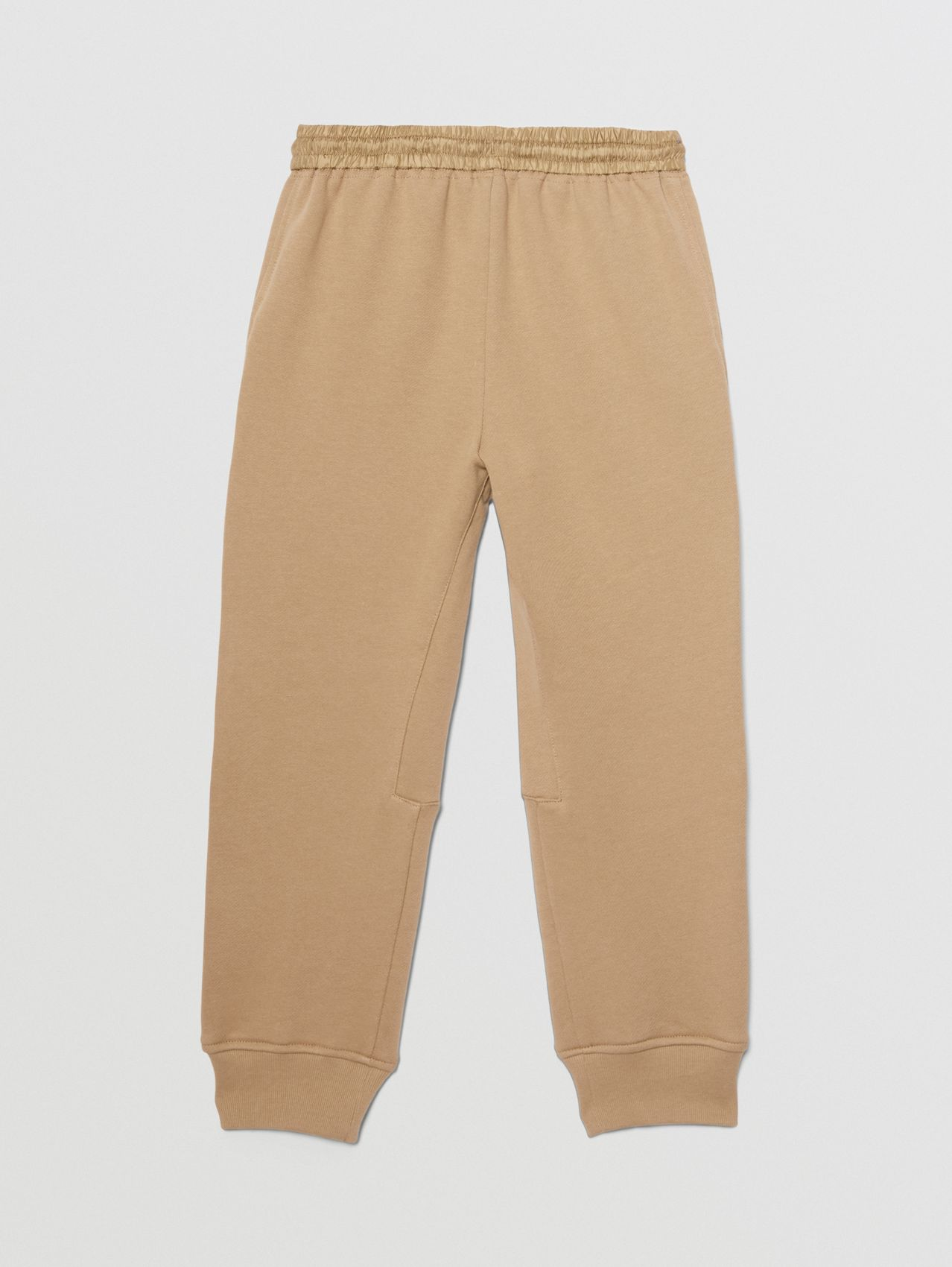 Monogram Quilted Panel Cotton Jogging Pants in Honey