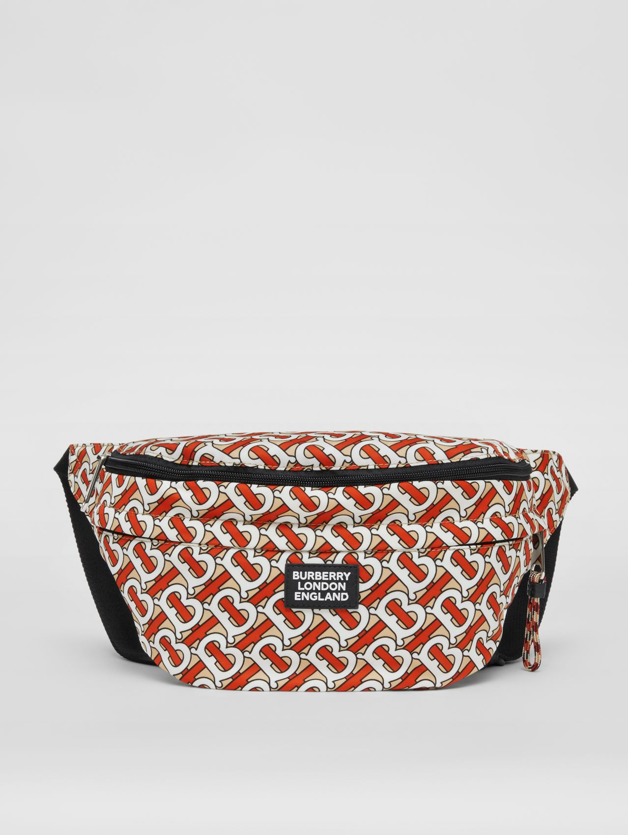 Monogram Print Convertible Bum Bag in Vermilion Red