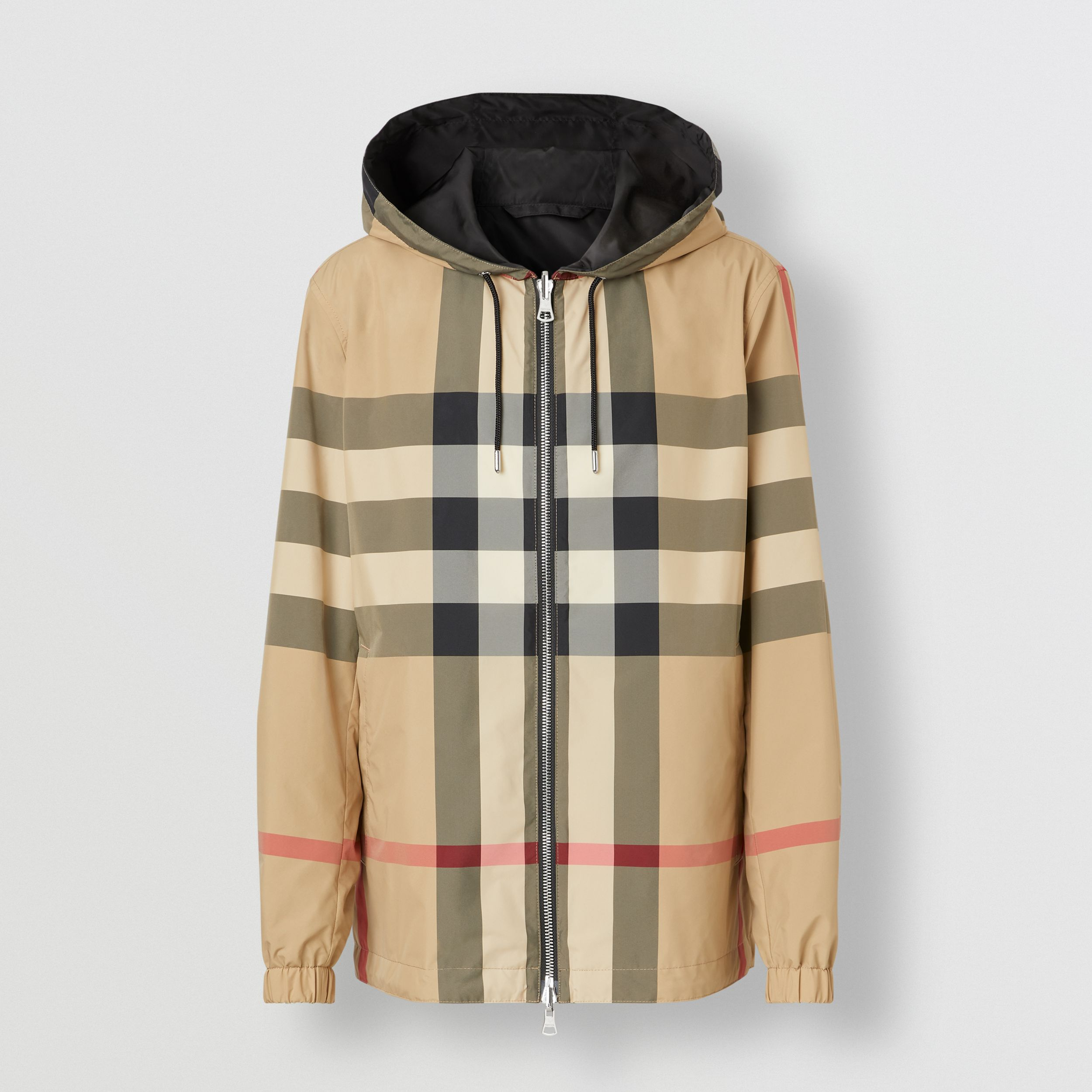 Reversible Check Recycled Polyester and ECONYL® Jacket in Archive Beige - Men | Burberry - 4