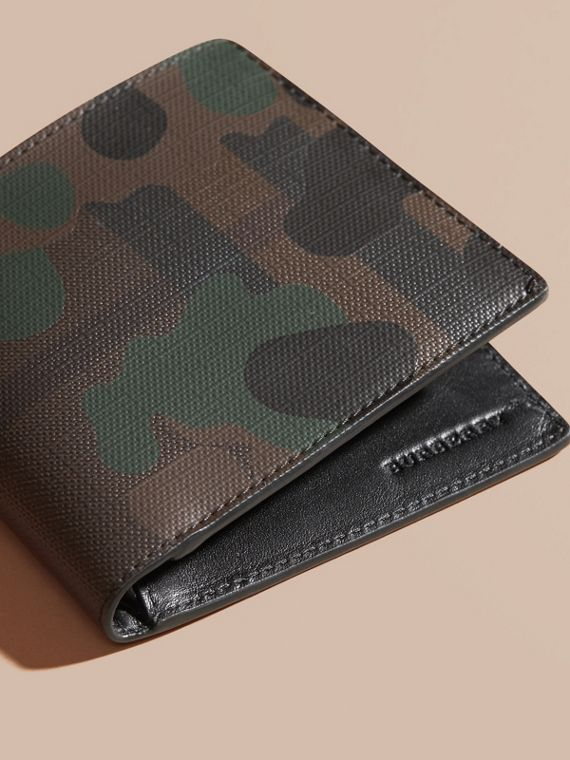 Chocolate/camouflage Camouflage and London Check Folding Wallet - cell image 2