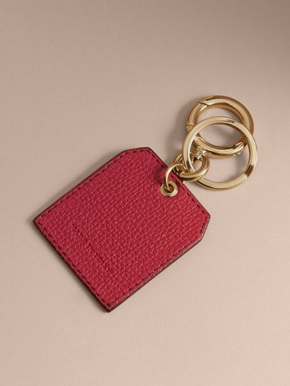 Leather Key Charm in Parade Red - Women | Burberry - cell image 3