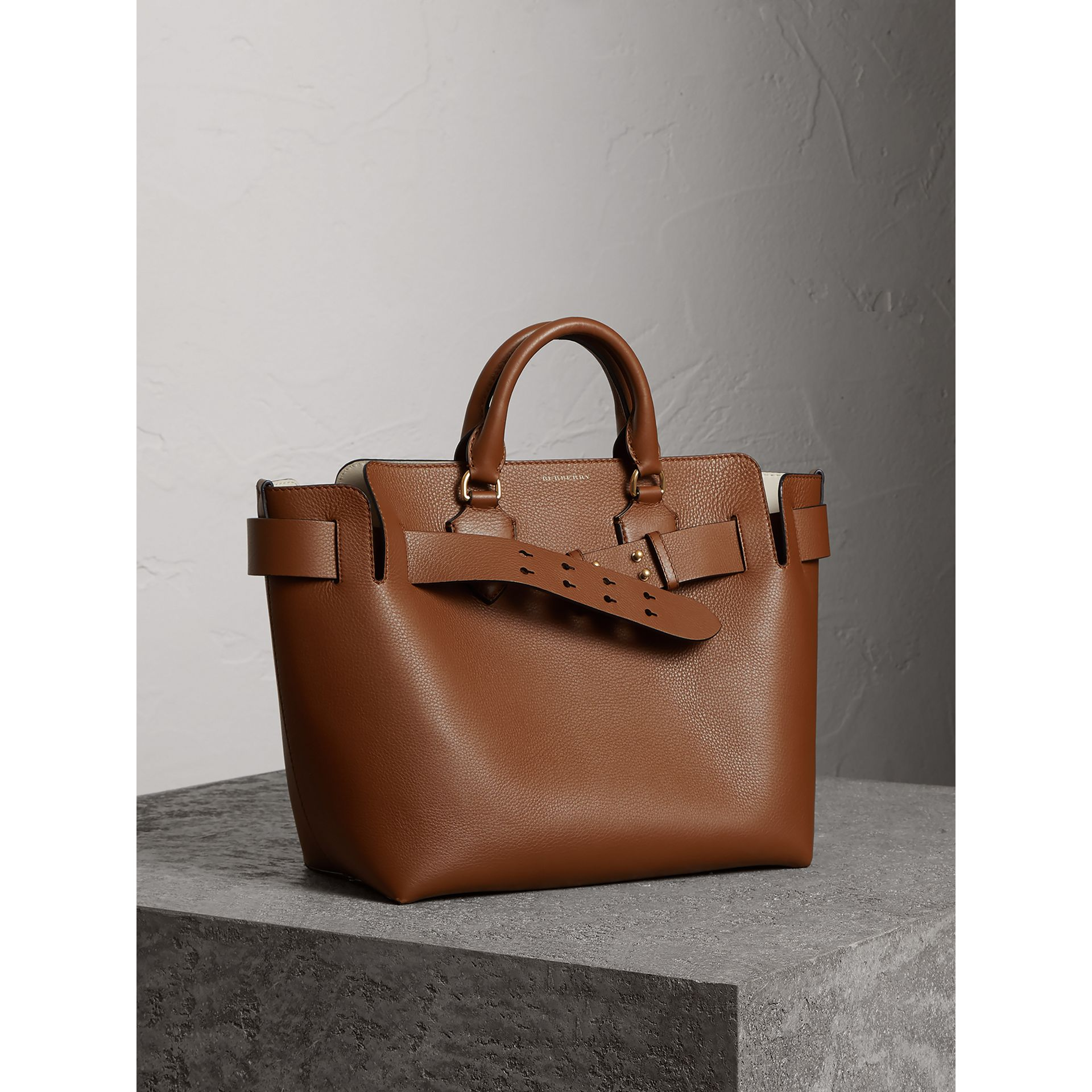The Medium Leather Belt Bag in Tan - Women | Burberry Singapore - gallery image 7