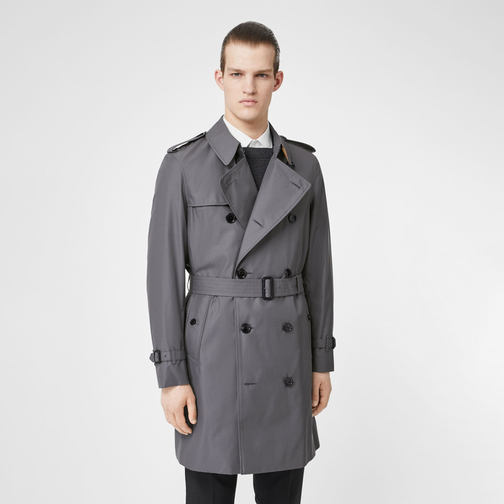 Trench Heritage The Chelsea (Gris Moyen) - Homme | Burberry Canada - photo de la galerie 7
