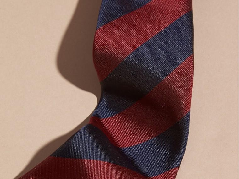 Parade red Slim Cut Stripe Jacquard Silk Tie Parade Red - cell image 1