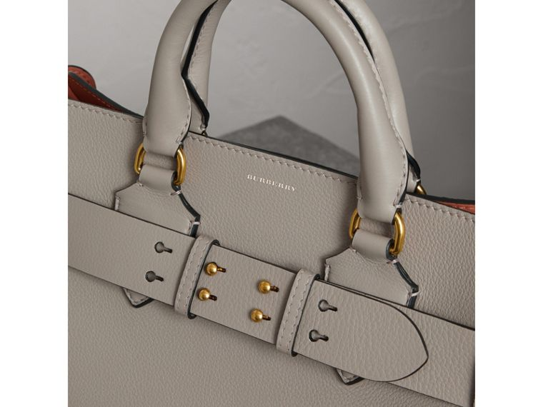 The Medium Leather Belt Bag in Mineral Grey - Women | Burberry - cell image 1