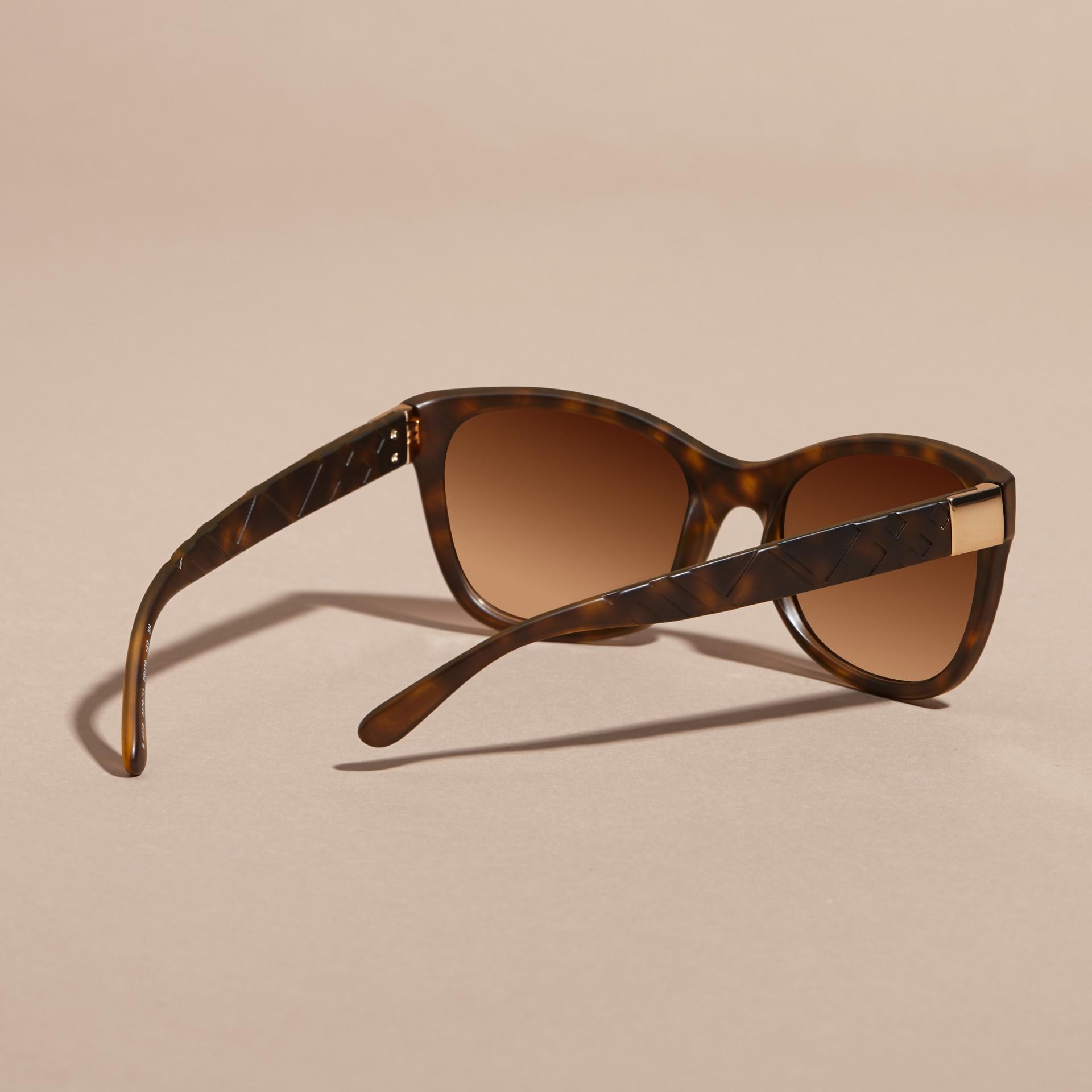Tortoise shell 3D Check Square Frame Sunglasses Tortoise Shell - gallery image 4