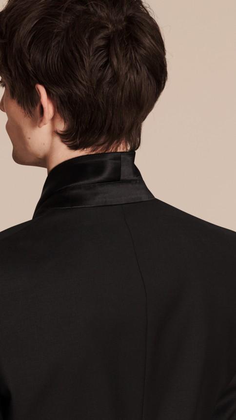 Black Modern Fit Wool Mohair Half-canvas Tuxedo - Image 5