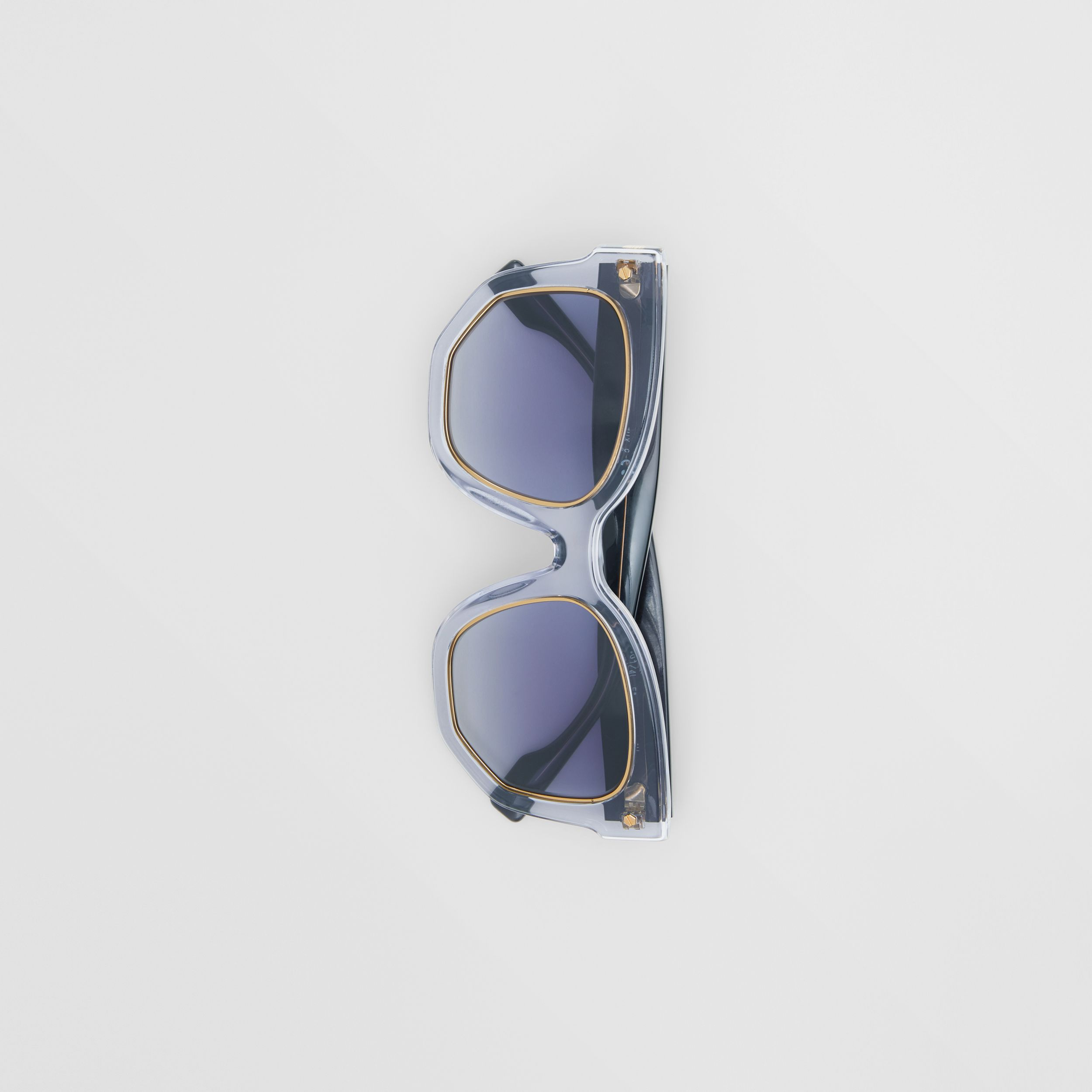 Geometric Frame Sunglasses in Grey - Women | Burberry - 4
