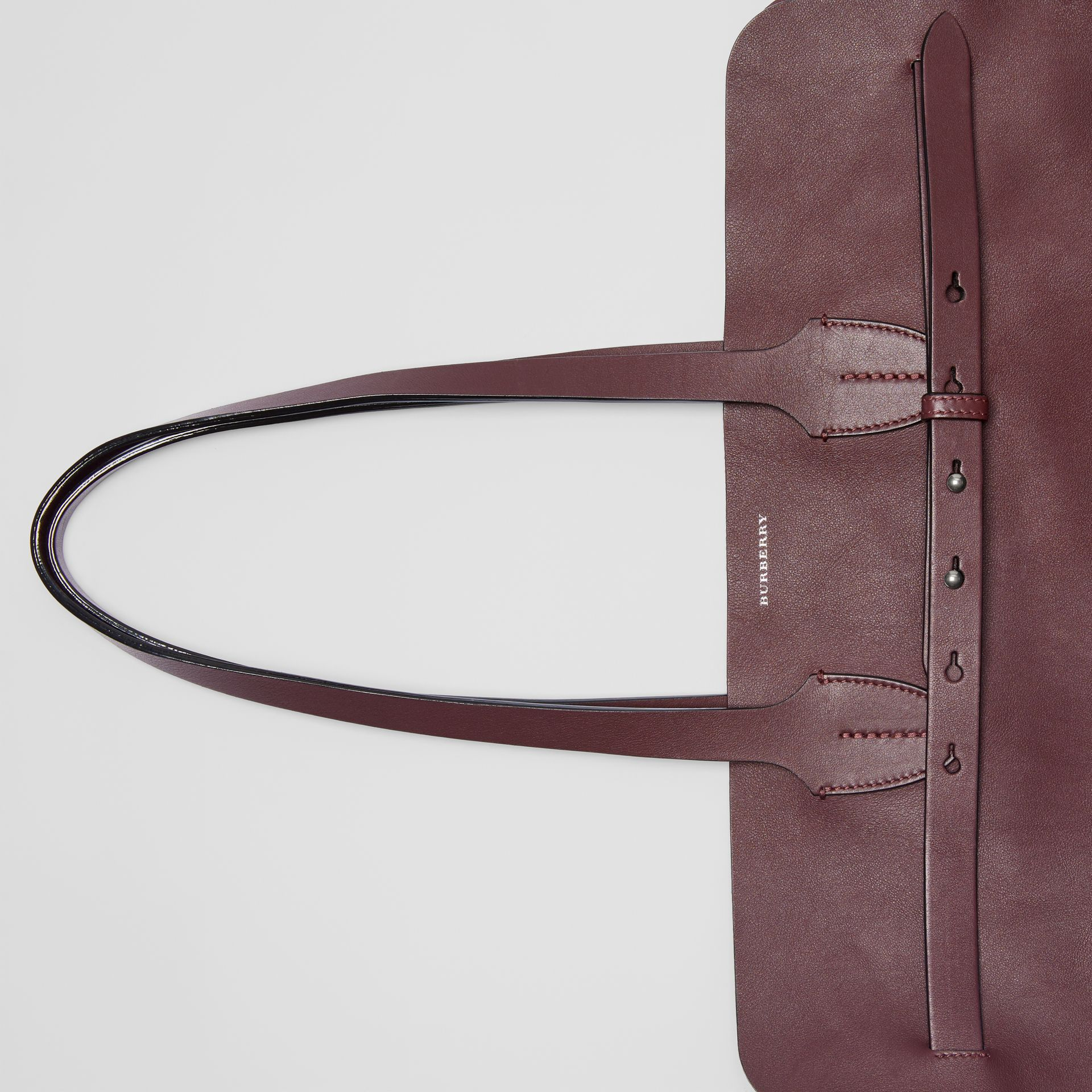 The Large Soft Leather Belt Bag in Deep Claret - Women | Burberry - gallery image 5