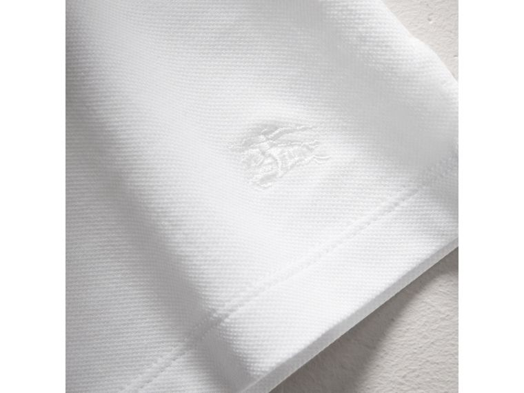 Check Collar Polo Shirt in White - Girl | Burberry - cell image 1