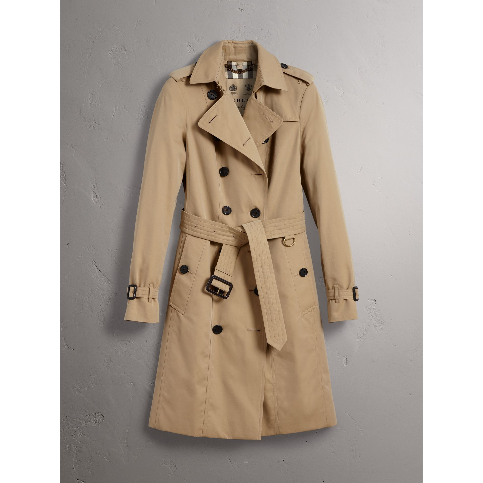 The Sandringham – Long Trench Coat in Honey - Women | Burberry United States - gallery image 3