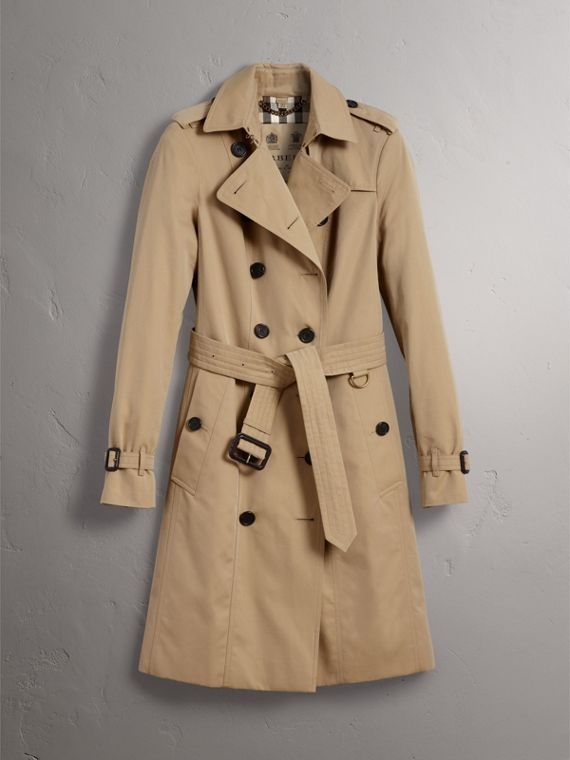 The Sandringham – Long Trench Coat in Honey - Women | Burberry - cell image 3