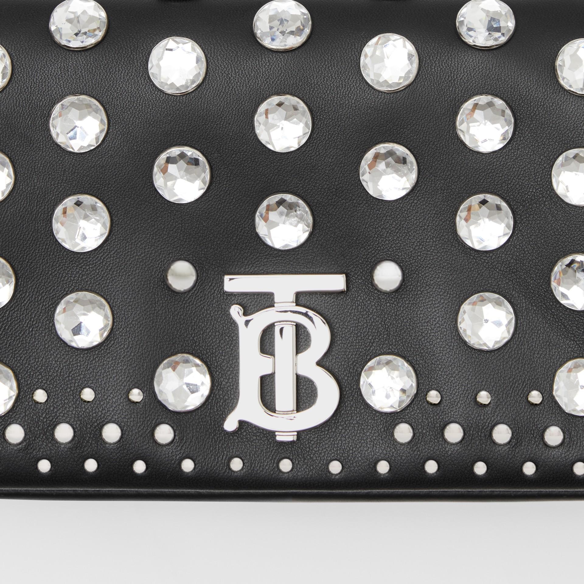 Small Embellished Lambskin Lola Bag in Black - Women | Burberry - gallery image 8