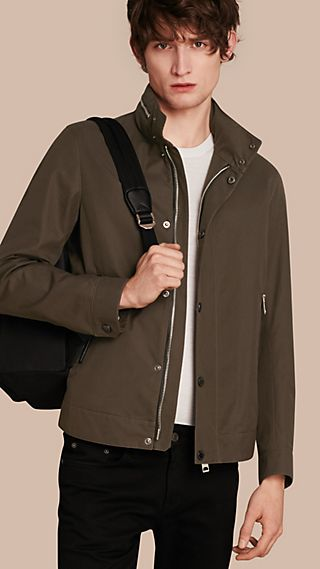 Packaway Hood Cotton Gabardine Jacket