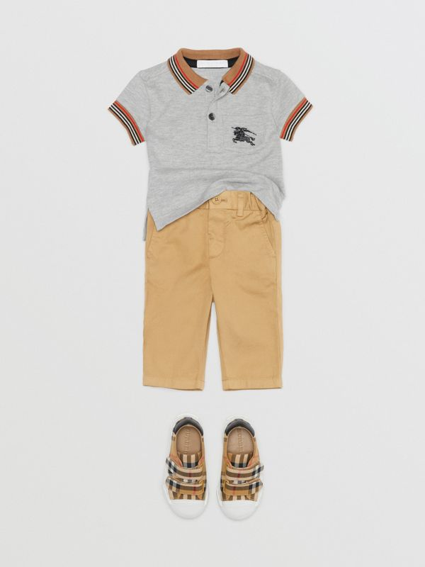 Cotton Chinos in Taupe - Children | Burberry - cell image 2