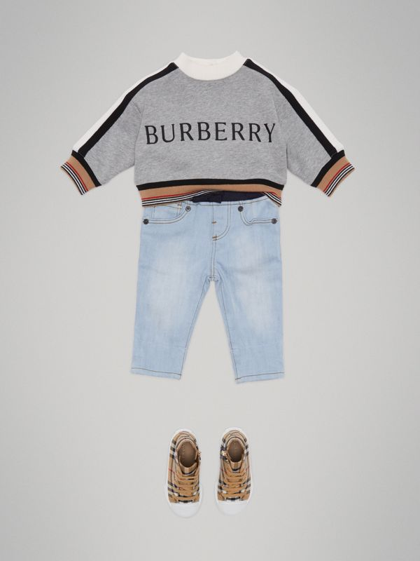 Relaxed Fit Pull-on Denim Jeans in Light Blue - Children | Burberry - cell image 2
