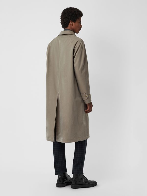 Reversible Tropical Gabardine and Wool Car Coat in Chalk Green - Men | Burberry United Kingdom - cell image 2